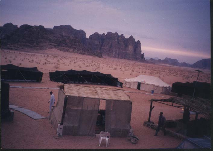 main camp inside the desert